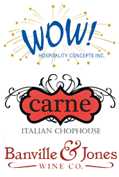 Wow Carne Banville logo combo